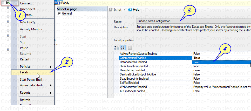 Accessing Surface Area Configuration in SQL 2016