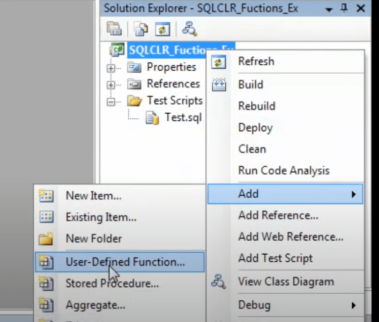 Adding User-Defined CLR Function
