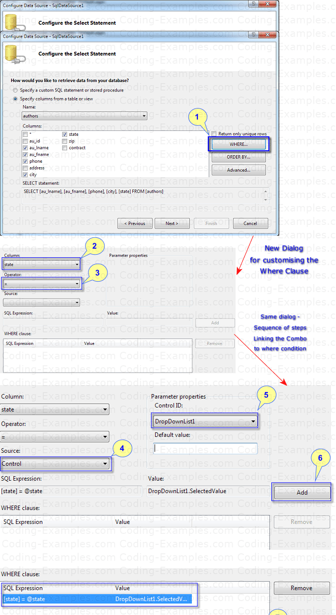 Linking DropDownList to where clause of SqlDataSource Control