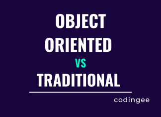 Traditional vs Object oriented software development