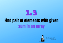 find pair of elements with given sum exists in the array using hashing