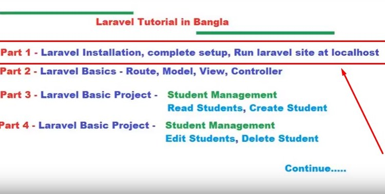 How to install and setup laravel bangla