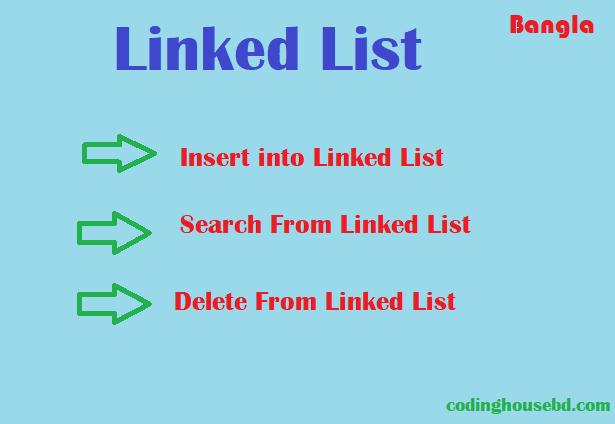 linekd list complete insert, delete, search total