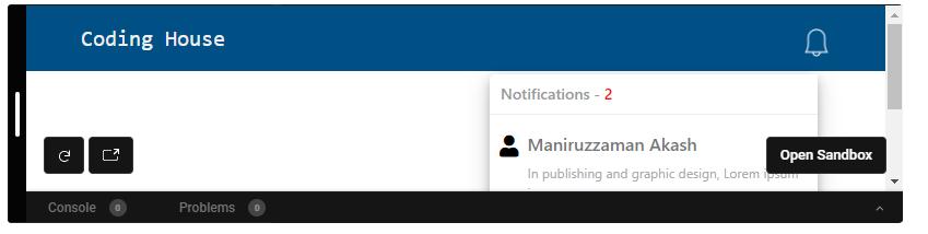 Navbar-notification