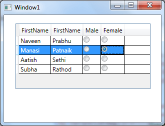 Grouped RadioButton for WPF Datagrid (2/3)