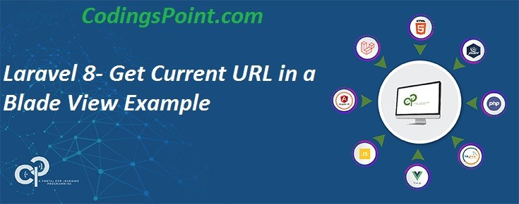Laravel 8- Get Current URL in a Blade View Example