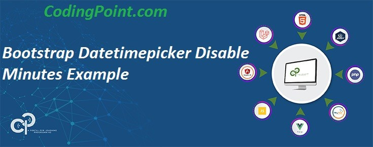 Bootstrap Datetimepicker Disable Minutes Example