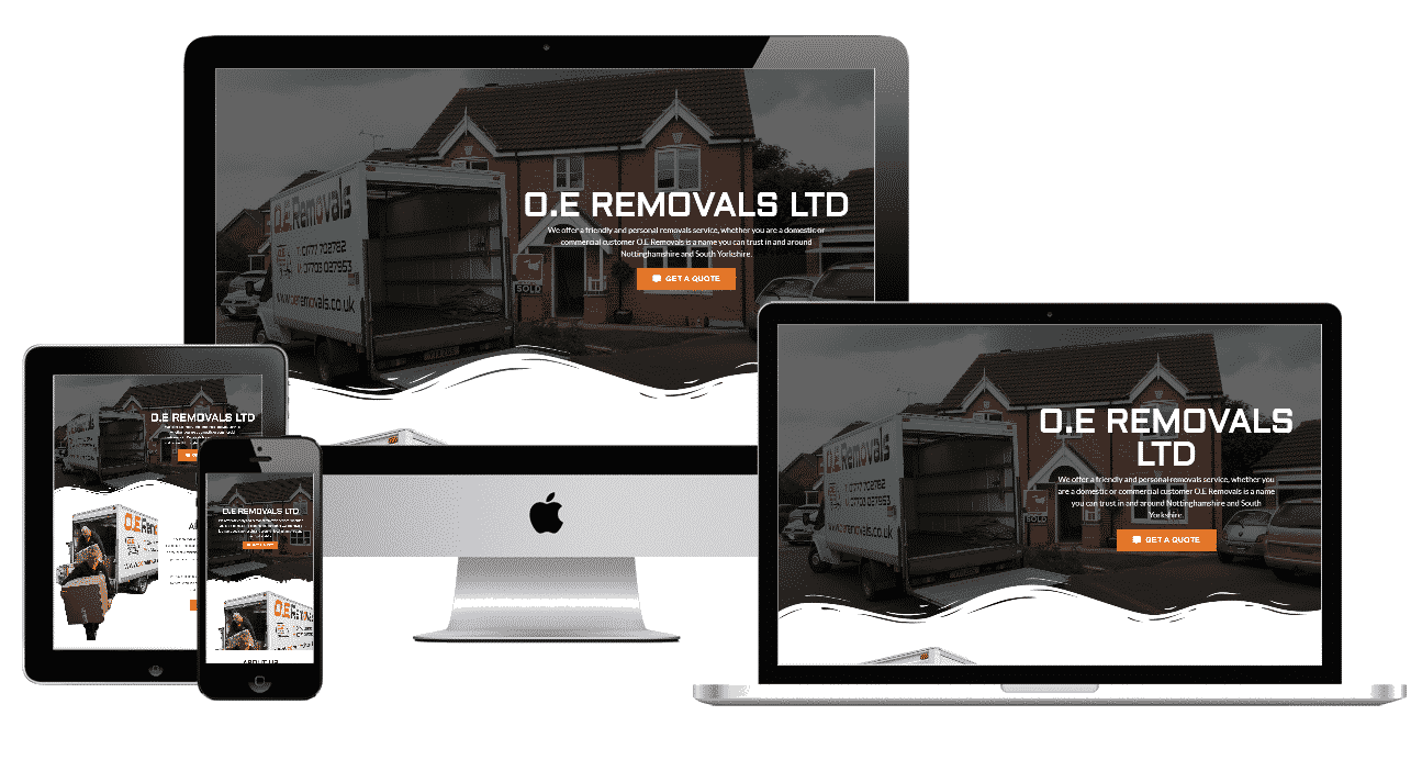 O.E Removals Website Preview