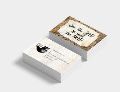 peckish bird business cards 2