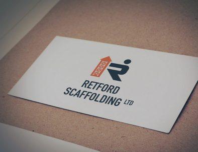 retford scaffolding business cards