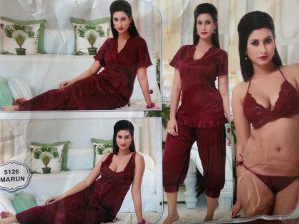 Bridal 6 Pieces Nightwear Pakistan