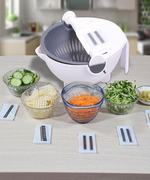 Multi Functional Vegetable Cutter With Drain Basket Pakistan