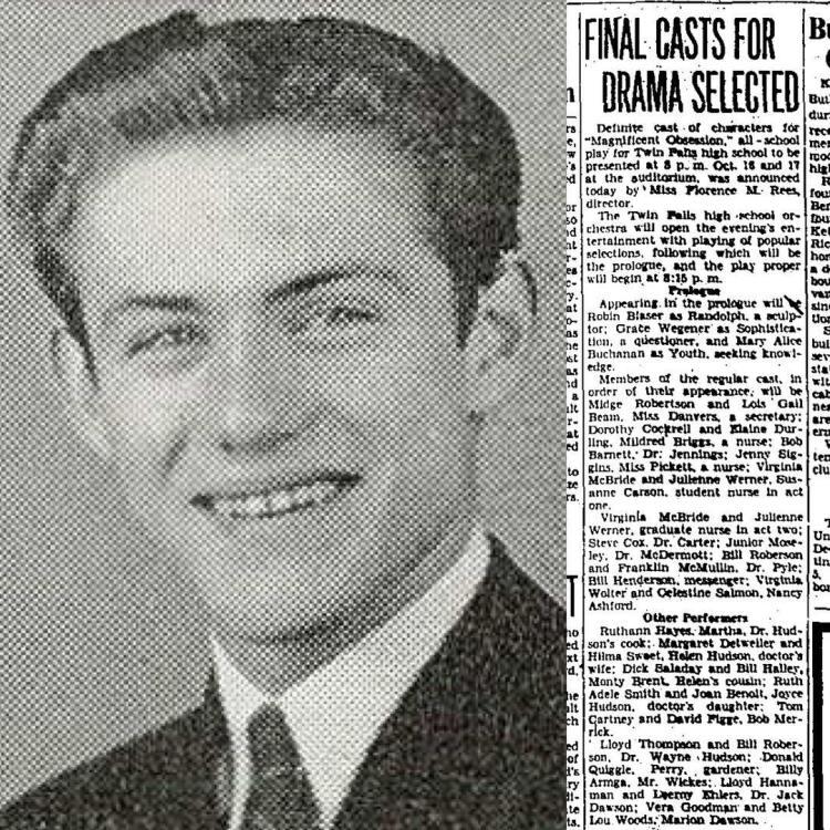 Robin Blaser, Twin Falls High 1941-42 (11th grade