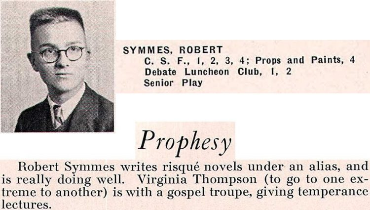 Happy birthday Robert Duncan (Symmes)! Bakersfield High, 1936