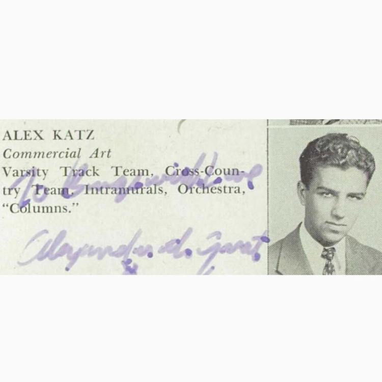 Alex Katz, Wilson Vocational High School (New York), 1944
