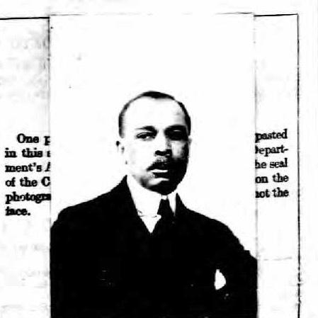James Weldon Johnson, passport, 1920