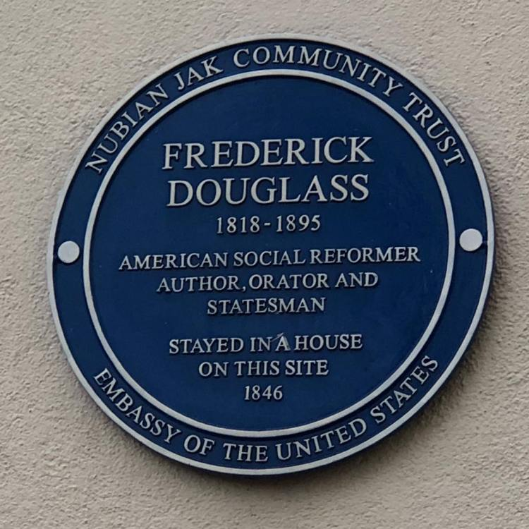 Our London apartment building has an English Heritage blue plaque for Frederick Douglass, who stayed here in 1846