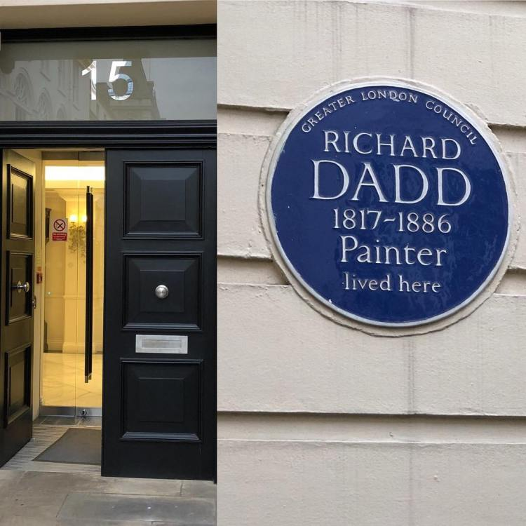 Richard Dadd famous fairy painter and insane murderer lived at 15 Suffolk Street.