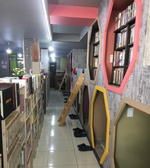 Manhwabang (a place to read books/manga) in Korea.
