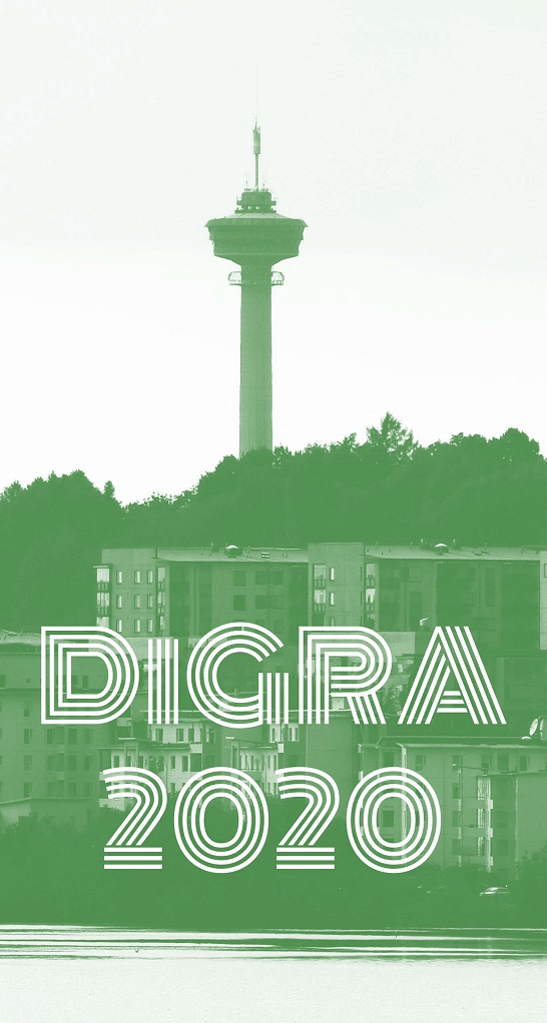 DiGRA 2020 logo Näsineula