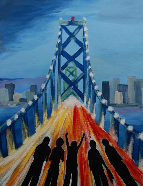 Road Trip - Acrylic on Canvas, by Abigail Ahern