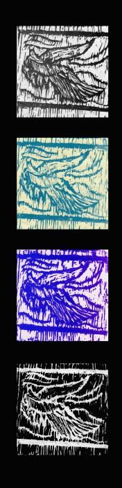 Dove by Virginia Scarponi - Linoleum Block Prints
