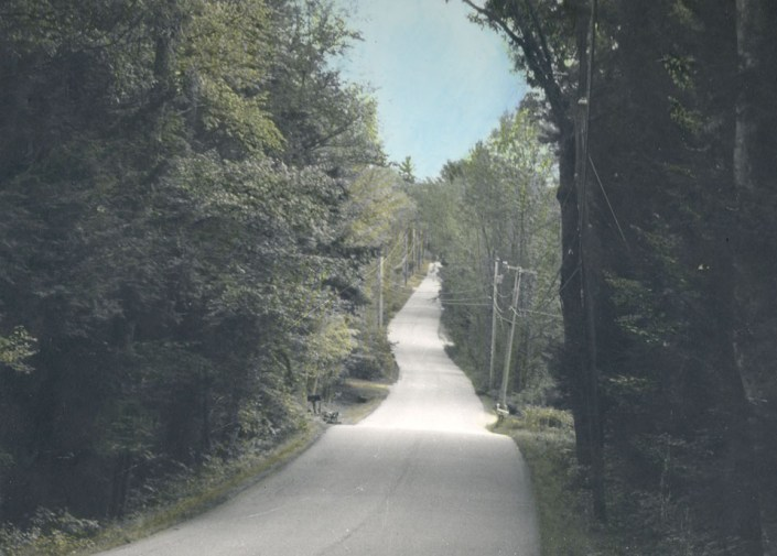 My Road by Adam Taschereau - Hand-tinted B & W Photograph