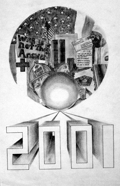 The Year of the Patriot by Meagan Corlin - Graphite Pencil on Paper