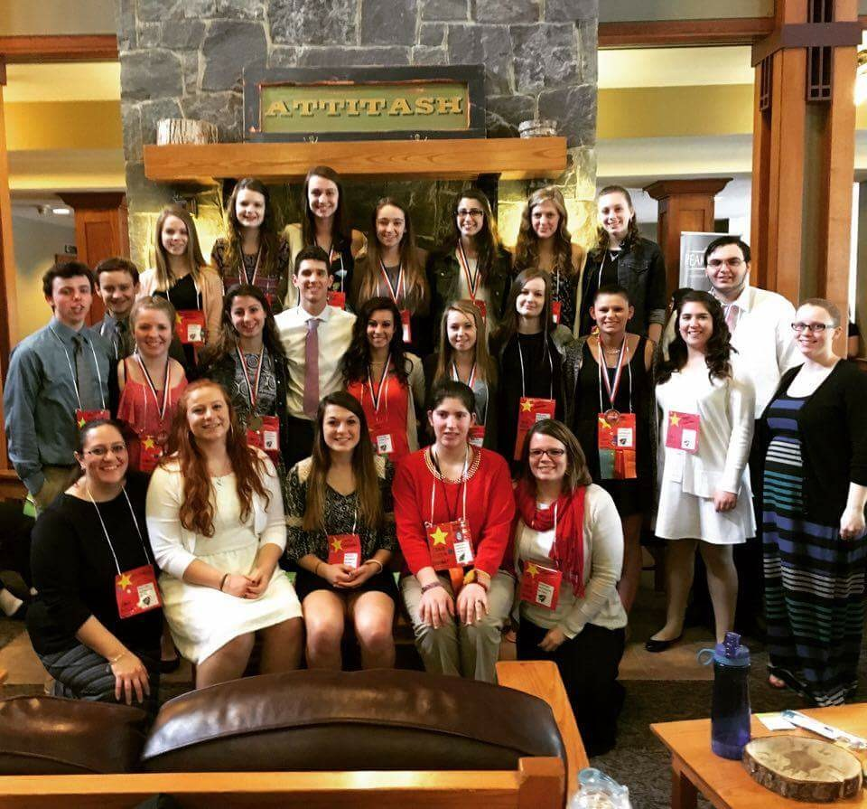 The CBNA Chapter members of FCCLA at the FCCLA State Conference and their advisors.