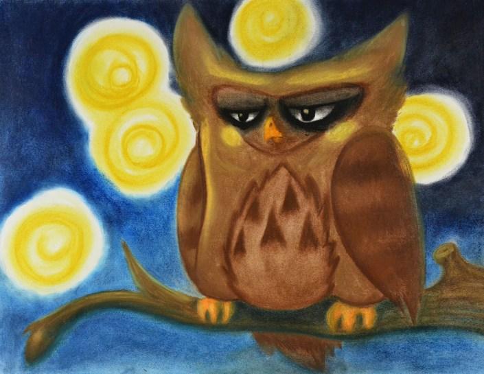 Starry Night by Elizabeth Ward - Pastel Drawing
