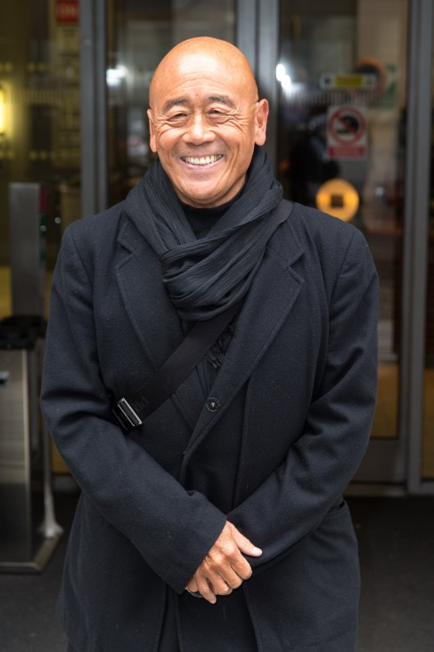 Ken Hom OBE pictured arriving at the Radio 2 studio