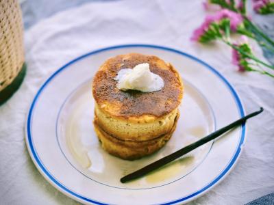 バニラ香るパンケーキ