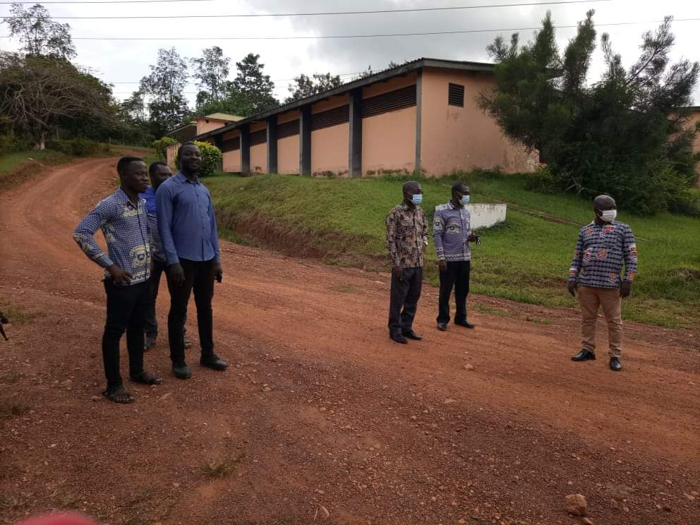 Enchi College Of Education Management inspects Renovation Projects ahead of Students Arrival
