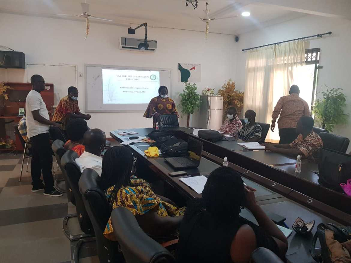 Professional Development Session takes new phase at OLA College of Education