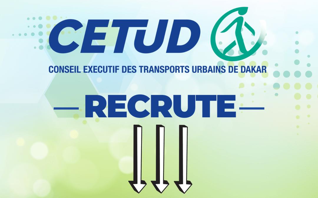 Le CETUD Recrute 8 Postes Pour Le Projet Bus Rapid Transit