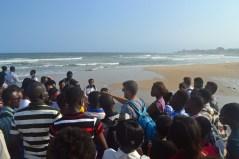 Drew Teaching by ocean
