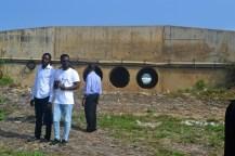 students by estuary dam