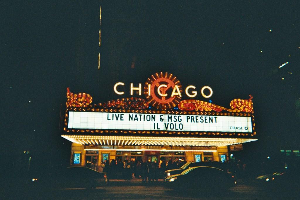 Balaban and Katz Chicago Theatre en argentique