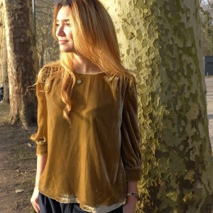 Blouse en velours de soie made in france faite en atelier d'insertion