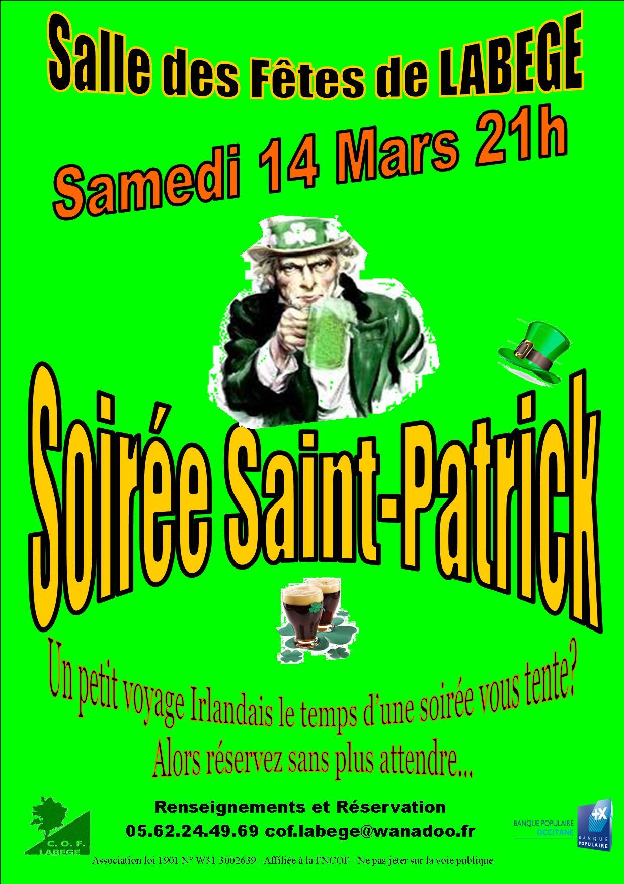 Soire Saint Patrick Samedi 14 Mars 2015 20h La Salle