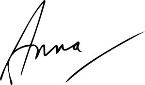 Image showing Anna's signature