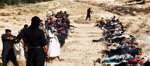 ISIS mass murder of Iraqi troops