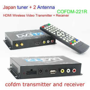 HD Wireless Video Receiver COFDM AV 1080P Transmission image Transceiver CVBS 170~900Mhz