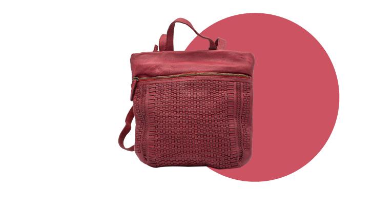 mochila de piel de mujer