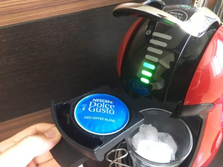 ドルチェグストのカプセルホルダーにアイスコーヒーブレンドをセット