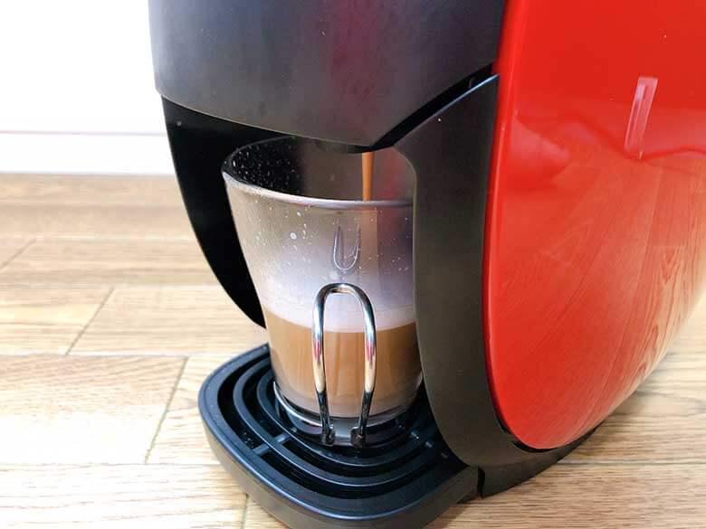 コーヒーの抽出が開始