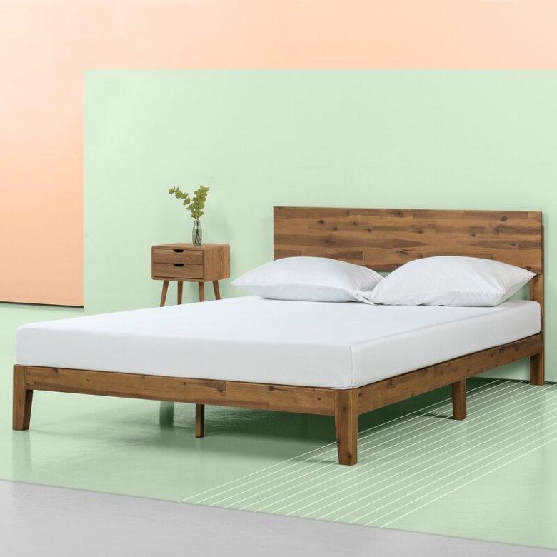 platform wood bed