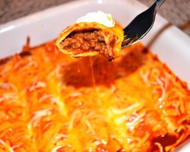 Homemade Beef Enchiladas