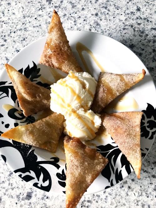 Banana Wontons Dessert