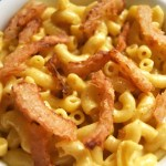 Macaroni and Cheese with Onion Strings
